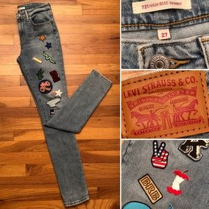 🆕 LEVI'S Vintage 60's Style Patches Skinny Jeans